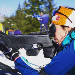 Faire du vrai biathlon lors de nos week-end d'initiation à la carabine 22 LR