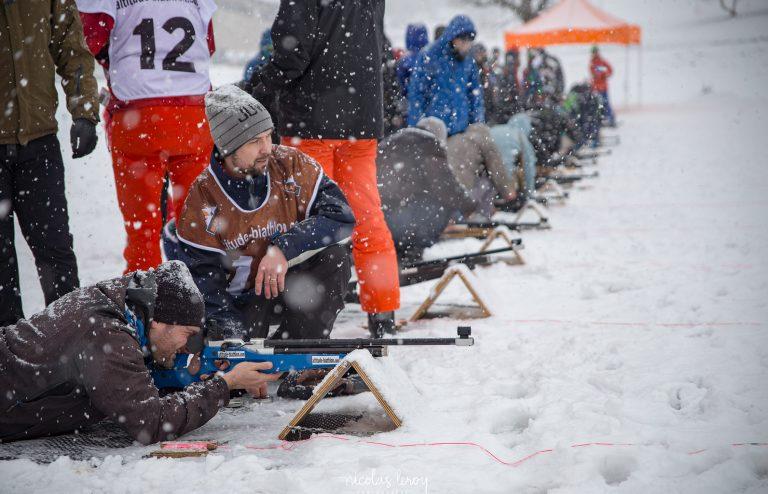 initiation de biathlon pour séminaire d'entreprise