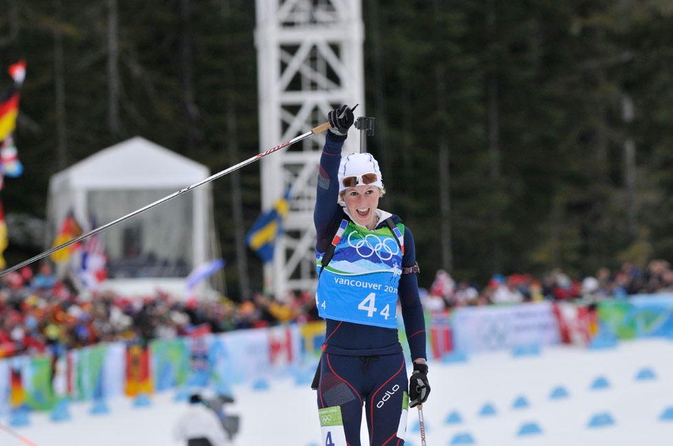 Sandrine Bailly en interview sur Altitude biathlon