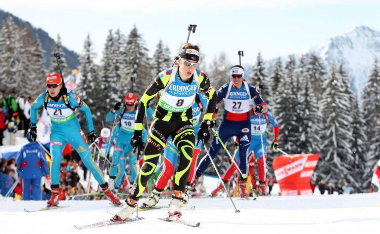 Marie laure Brunet en interview biathlon sur Altitude biathlon, le site des séjours de biathlon