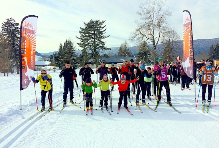 Une activité de biathlon ludique pour les enfants, la famille et les groupes d'amis