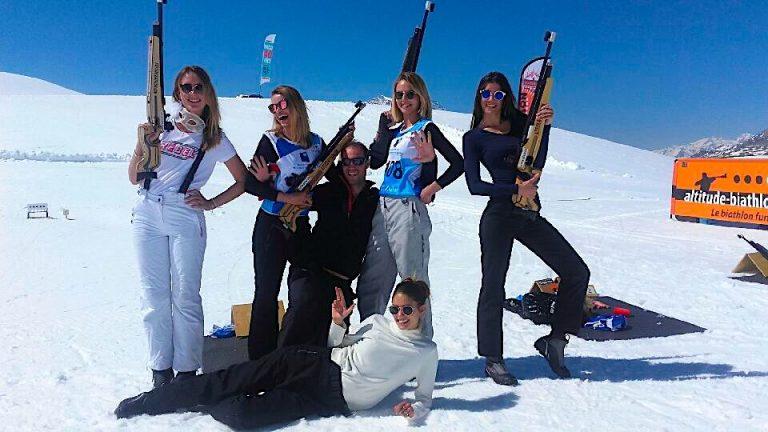 célébrer un anniversaire entre amis-le biathlon fun et festif