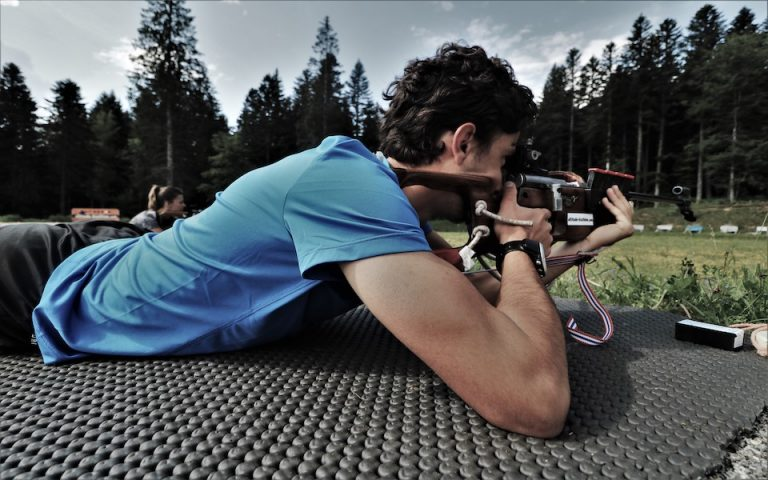 du vrai biathlon avec de vraies carabines de 22LR